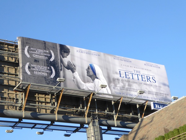 The Letters Mother Teresa movie billboard