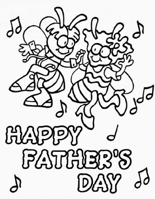 Happy Fathers Day 2017 color picture for kids