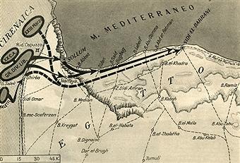 13 September 1940 worldwartwo.filminspector.com map Operation E Italian invasion Egypt