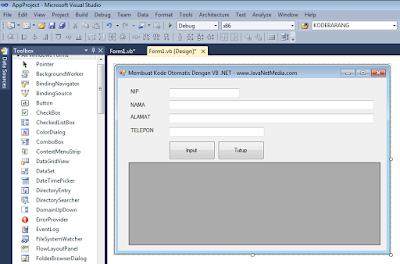 Cara Membuat Kode Otomatis Di VB .NET 2010