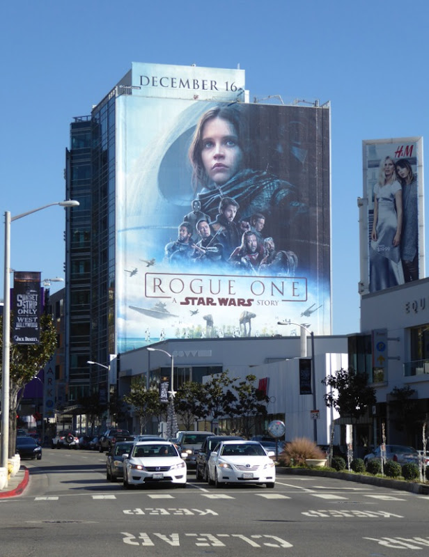 Rogue One Star Wars Story movie billboard