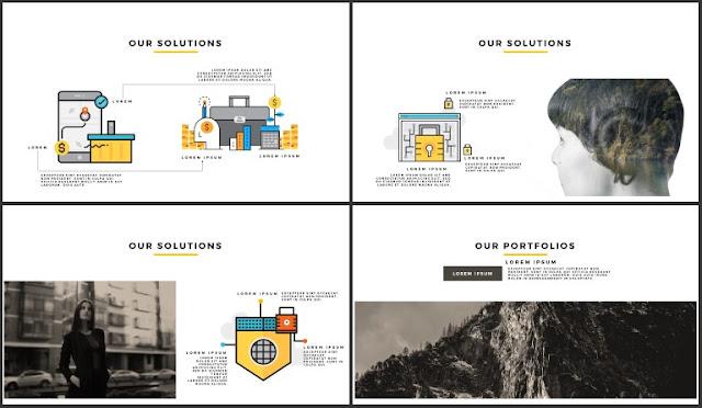 Desktop Screen Mock-up and Multi - Purpose Free PowerPoint Template [SIMPLE] Slides 25-28
