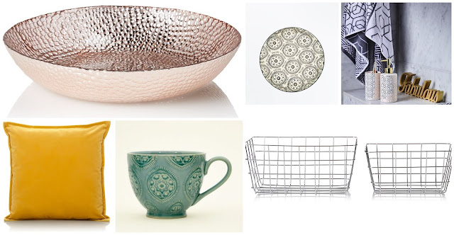 Homeware from Asda and New Look including Cushions, Bathroom Accessories and Mugs