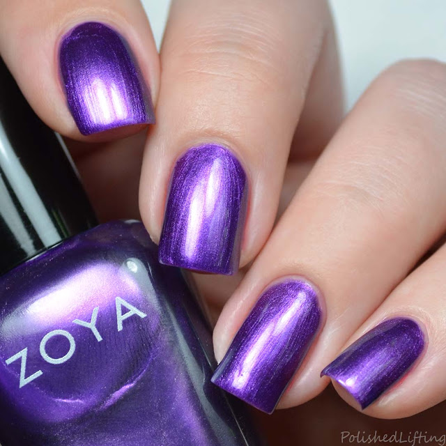 purple pearl nail polish