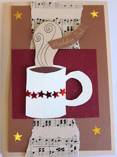 DIY julekort med kop