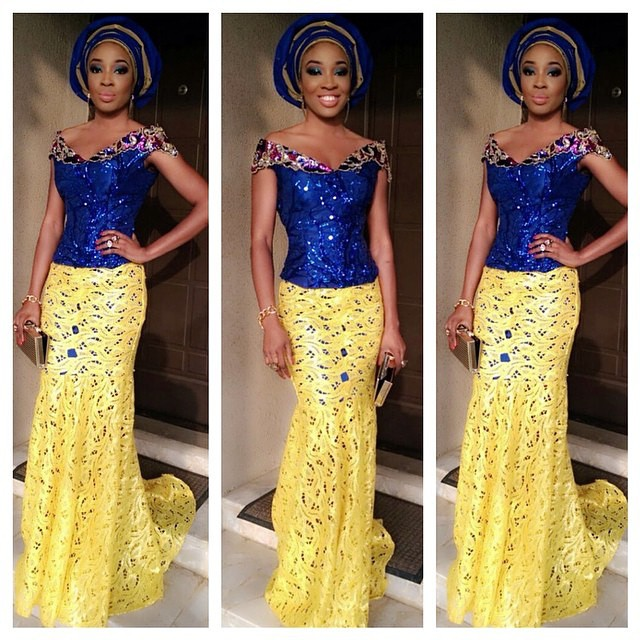 Creative Lace Aso Ebi Skirt And Blouse Style Dezango