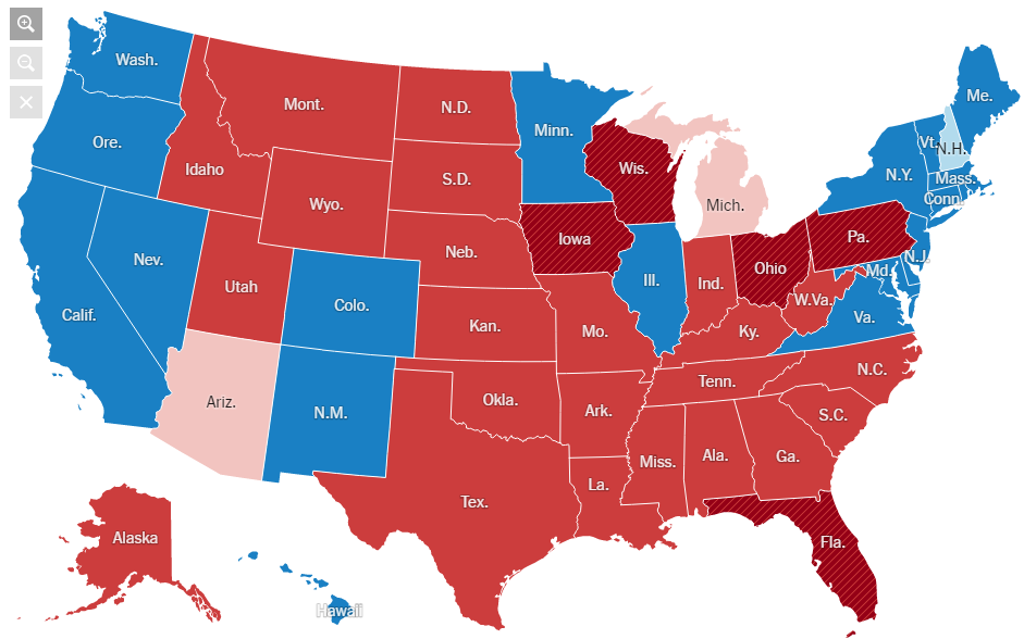 Read Think Bu Write Why Do We Have An Electoral College - Map of us without electoral college 2016
