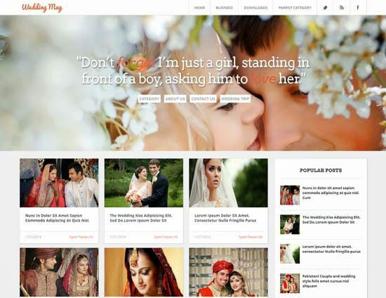 Wedding Mag Blogger Template