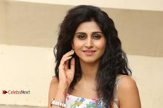 Actress Shamili Stills in Floral Short Dress at Sree Ramaraksha Song Launch  0201