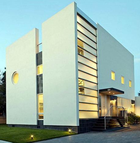 rumah minimalis monocrome