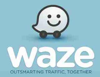 arus mudik aplikasi Waze Sat Nav, Maps & Traffic
