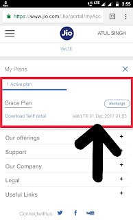 Reliance Jio Grace Plan