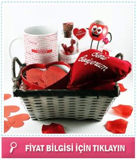 Bayana romantik hediye sepeti