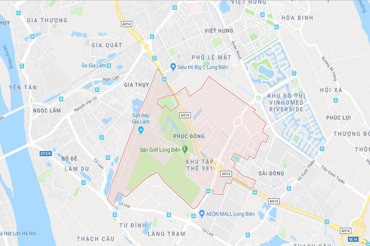 Vị trí dự án Hope Residence Phúc Đồng