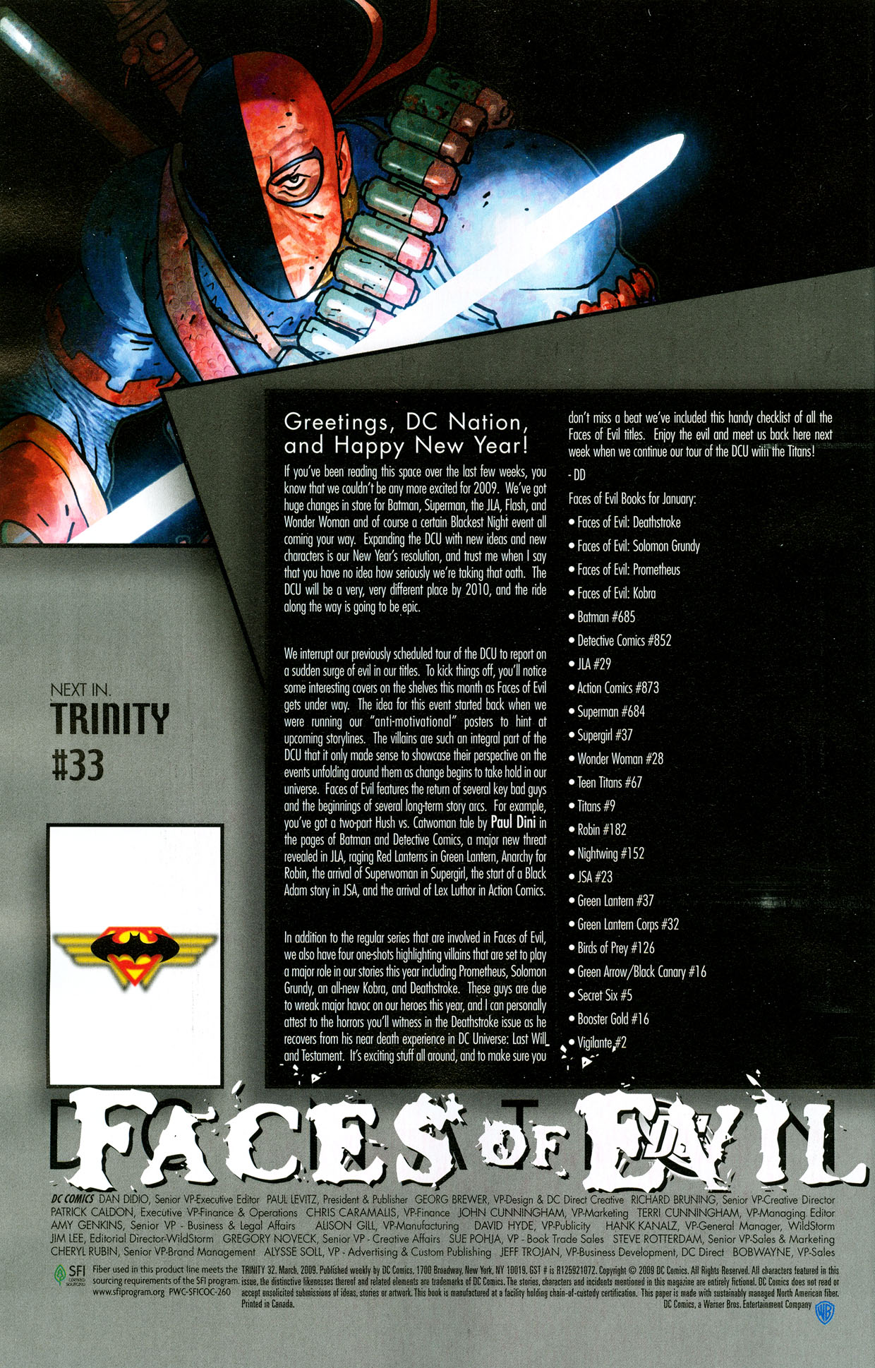 Read online Trinity (2008) comic -  Issue #32 - 33