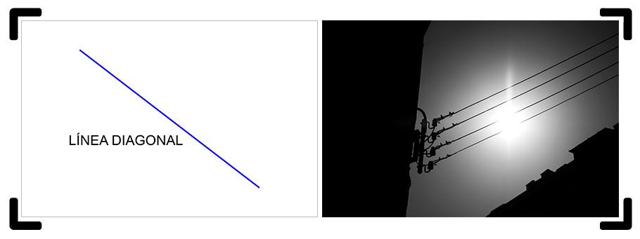 Línea diagonal