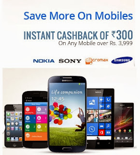 bea3243935e Snapdeal Offer  Enjoy Additional Rs.300 Instant Cashback on any Mobile over  Rs.3999