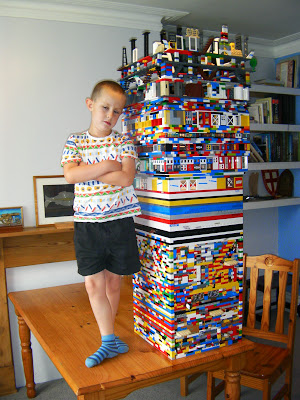 lego tower building
