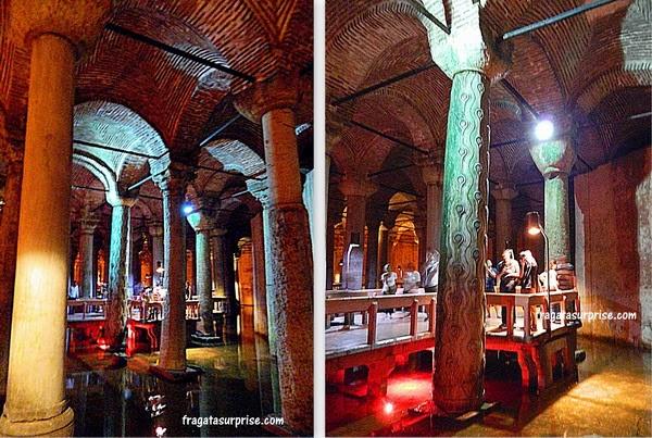 Interior da Cisterna da Basílica, Istambul