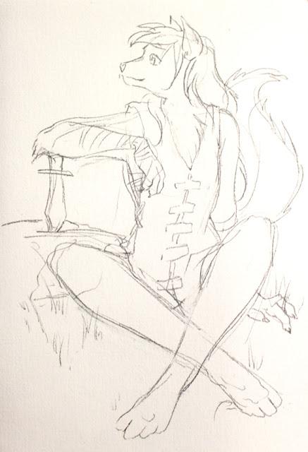 Natani de Twokinds - crayonné du fanart