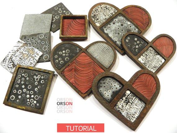 Orson Geometric Polymer Clay Tutorials by Nikolina Otrzan