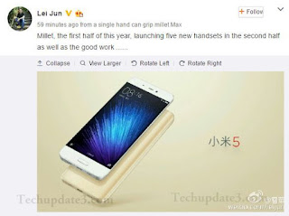 Xiaomi upcoming five smartphones