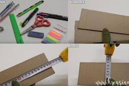Cara Membuat Kotak Pensil Dari Kardus Bekas Berserta Gambarnya