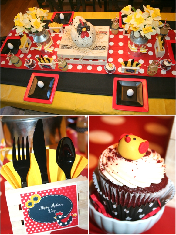 Mother's Day Mother Hen Dinner Party - via BirdsParty.com