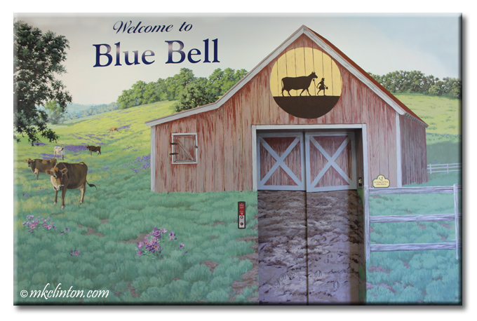 Blue Bell Creamery elevator looks like a barn