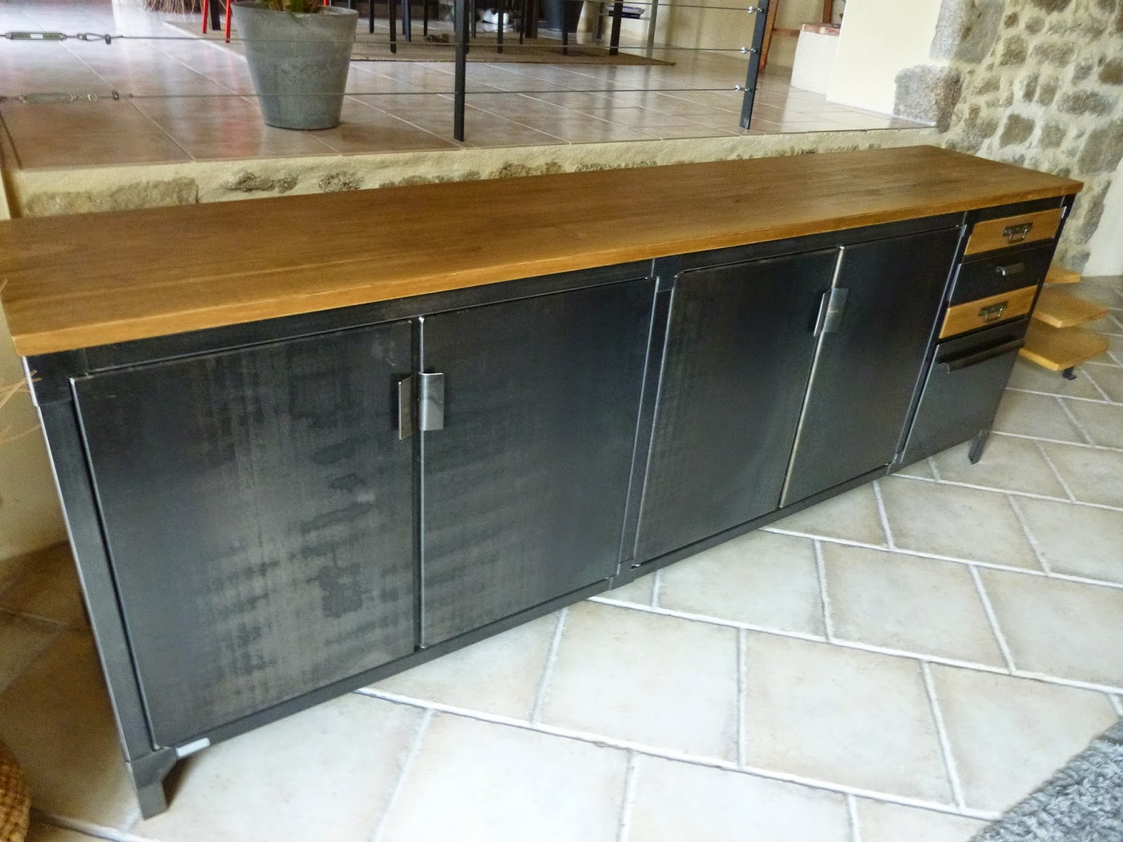 Buffet Bois Metal C Factory Creation Grand Buffet Metal And Bois