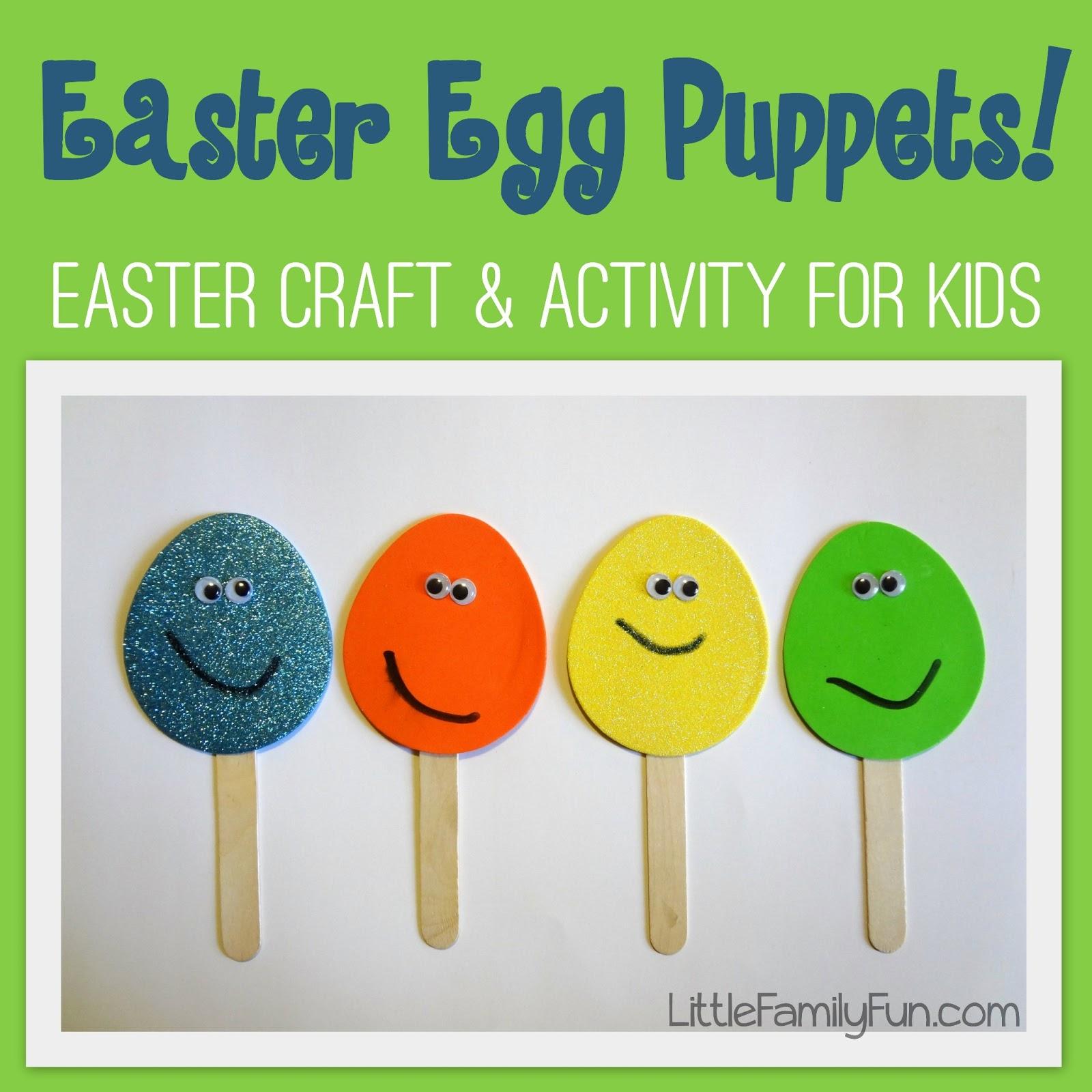 Little Family Fun Easter Egg Puppets