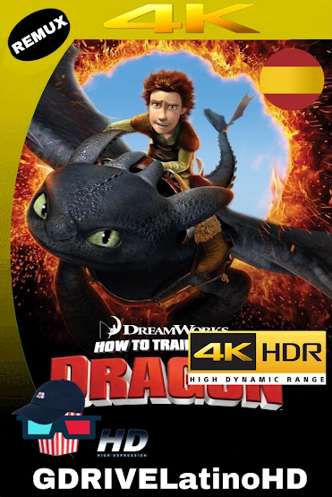 Cómo Entrenar a Tu Dragón (2010) BDRemux 2160P 4K HDR Castellano MKV