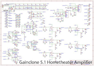 5.1 Home theater Power Amplifier with Gainclone LM1875 + LM3886