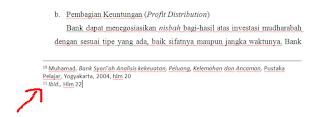 cara penulisan footnote