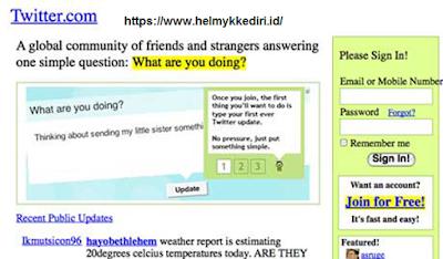 tampilan pertama kali dari website terkenali