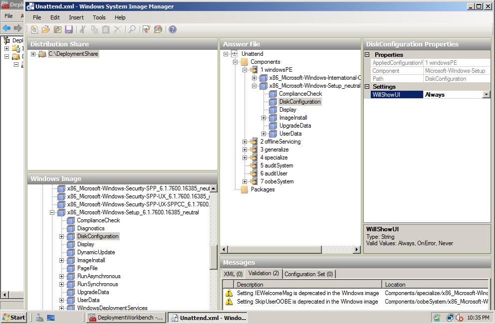 Zaid's Tech Blog: Disk Configuration Wizard Customization