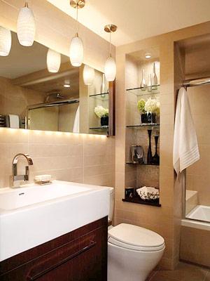 Banheiros em bege jeito de casa blog de decora o e arquitetura - Iluminacion ideal para banos ...