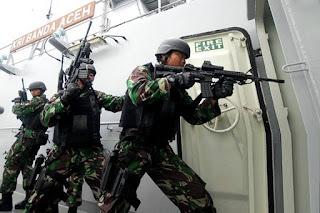 Latihan Komando Armada RI Kawasan Barat
