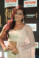 Prajna Actress in backless Cream Choli and transparent saree at IIFA Utsavam Awards 2017 0035.JPG
