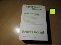 Verpackung Rückseite: GHB 8GB Digitales Diktiergerät Aufnahmegerät Audio Voice Recorder mit Stereoaufnahmen, MP3 Player und USB Spericher -Schwarz