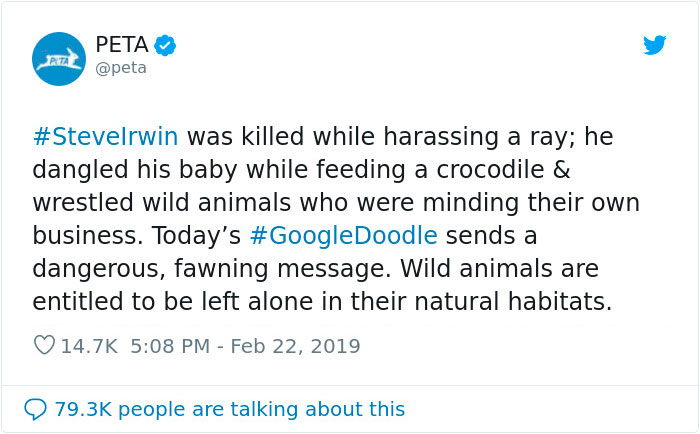 30 Epic Reactions To PETA 's Criticism To Steve Irwin