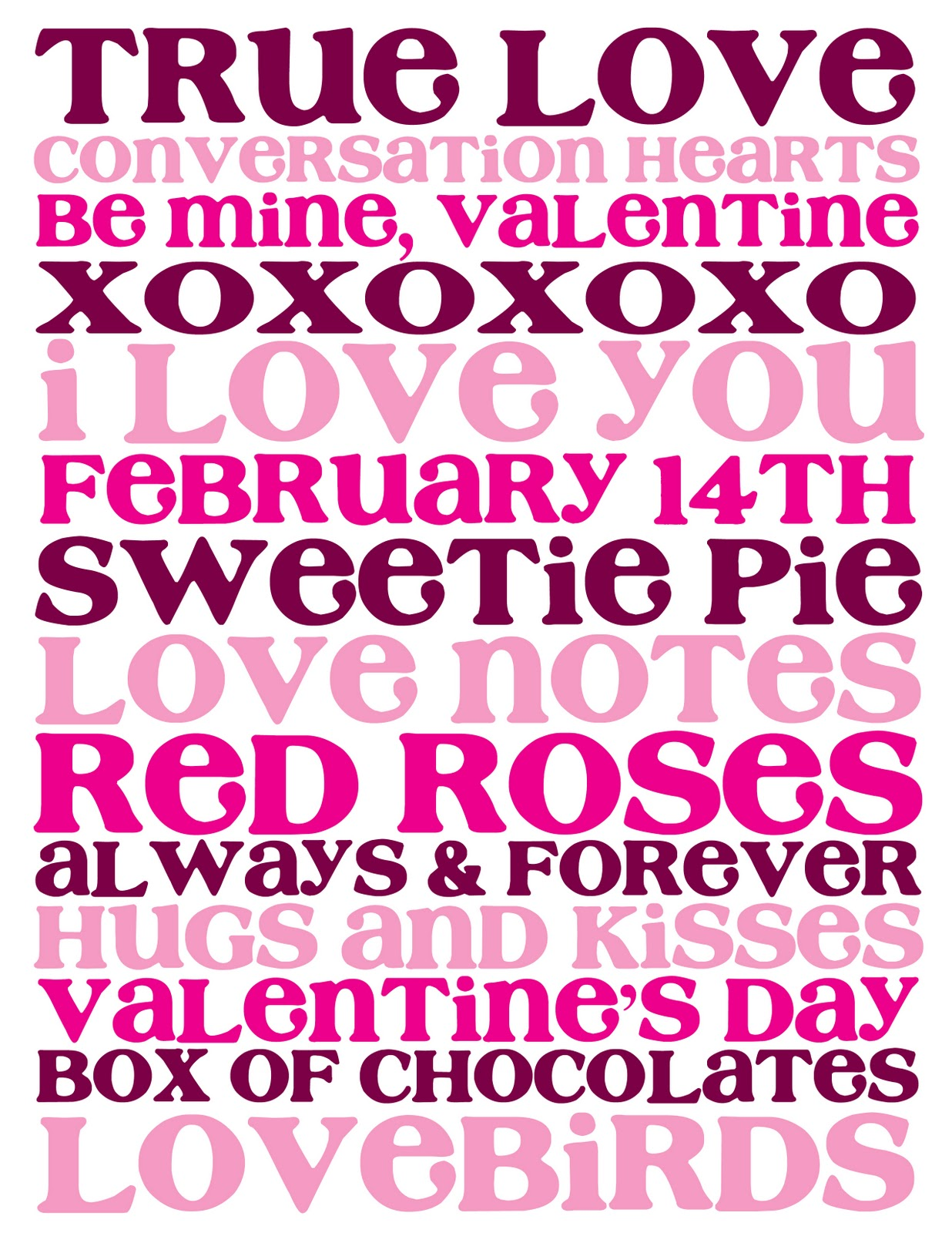 The Audzipan Anthology Valentine S Day Subway Art Printable