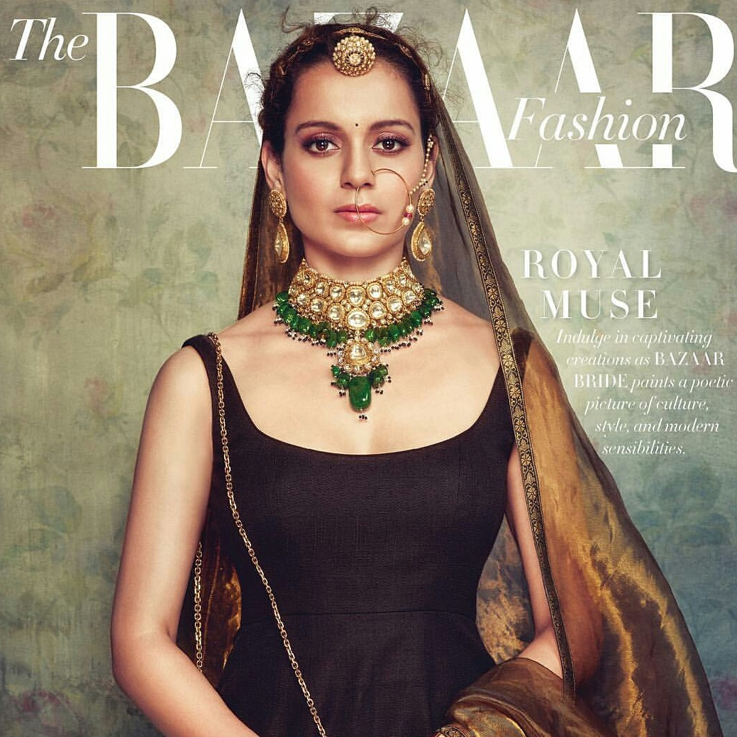 Kangana Ranaut On Harpers Bazaar Bride September 2017 Cover
