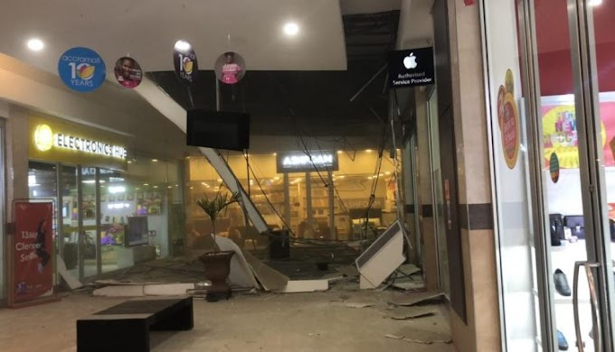 Photos: Three injured as Accra Mall ceiling caves in