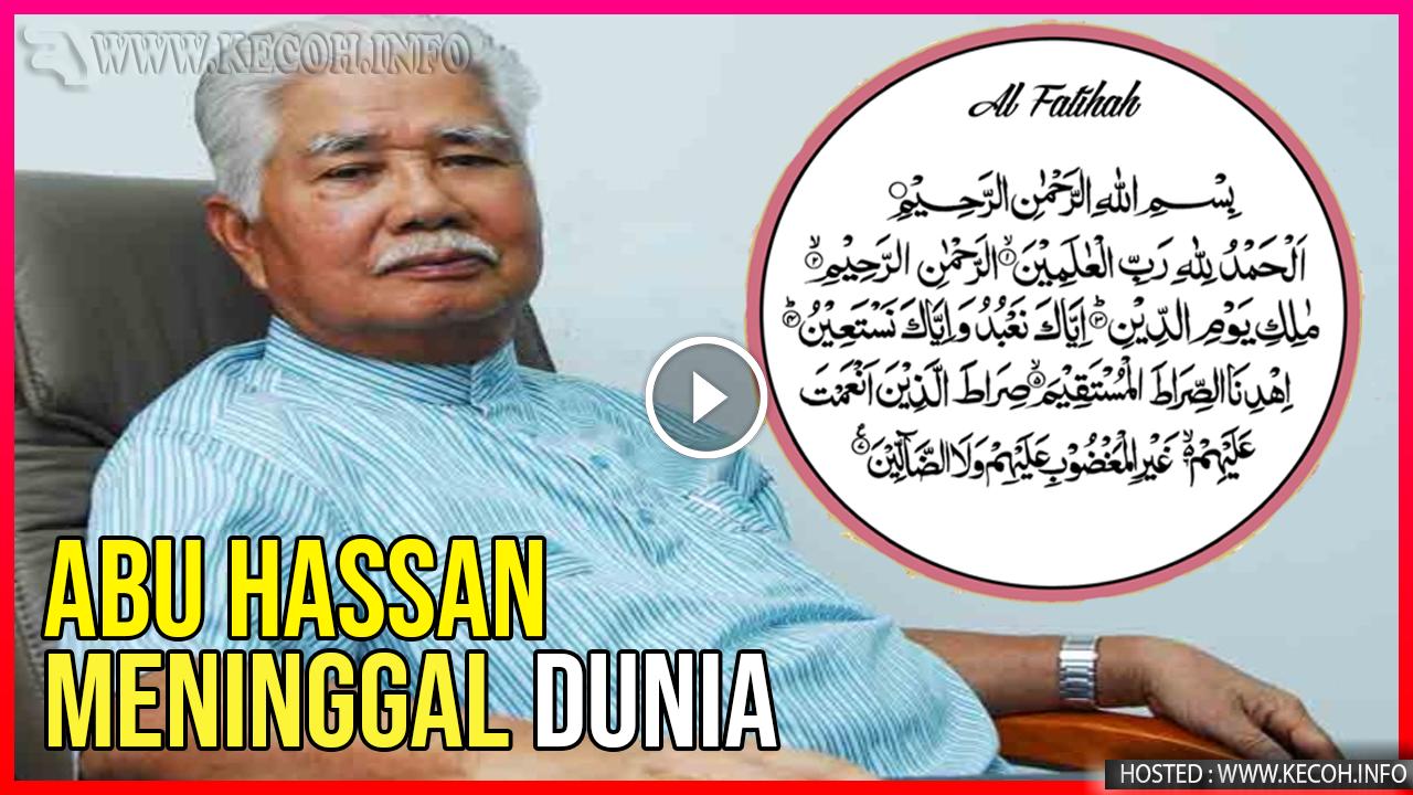 Bekas Menteri Besar Selangor Meninggal Dunia