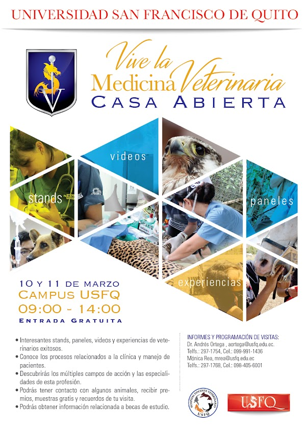 Casa abierta Vive la Medicina Veterinaria.