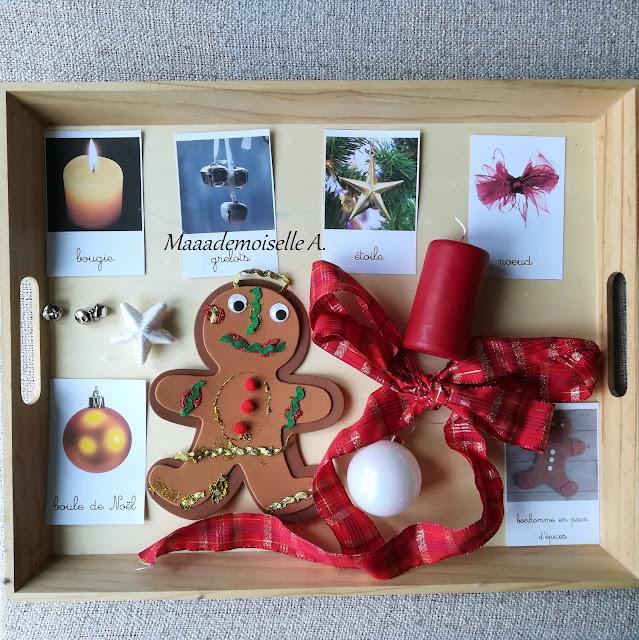 || Nos derniers plateaux sensoriels et d'activités # 2 : Mise en paires décoration de Noël