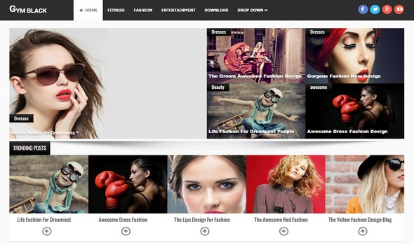 Gym Responsive Blogger Template