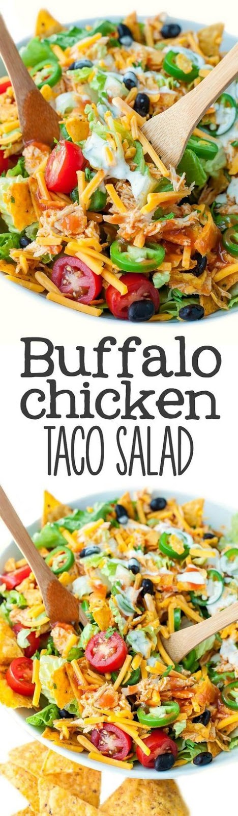 Buffalo Chicken Taco Salad Recipe