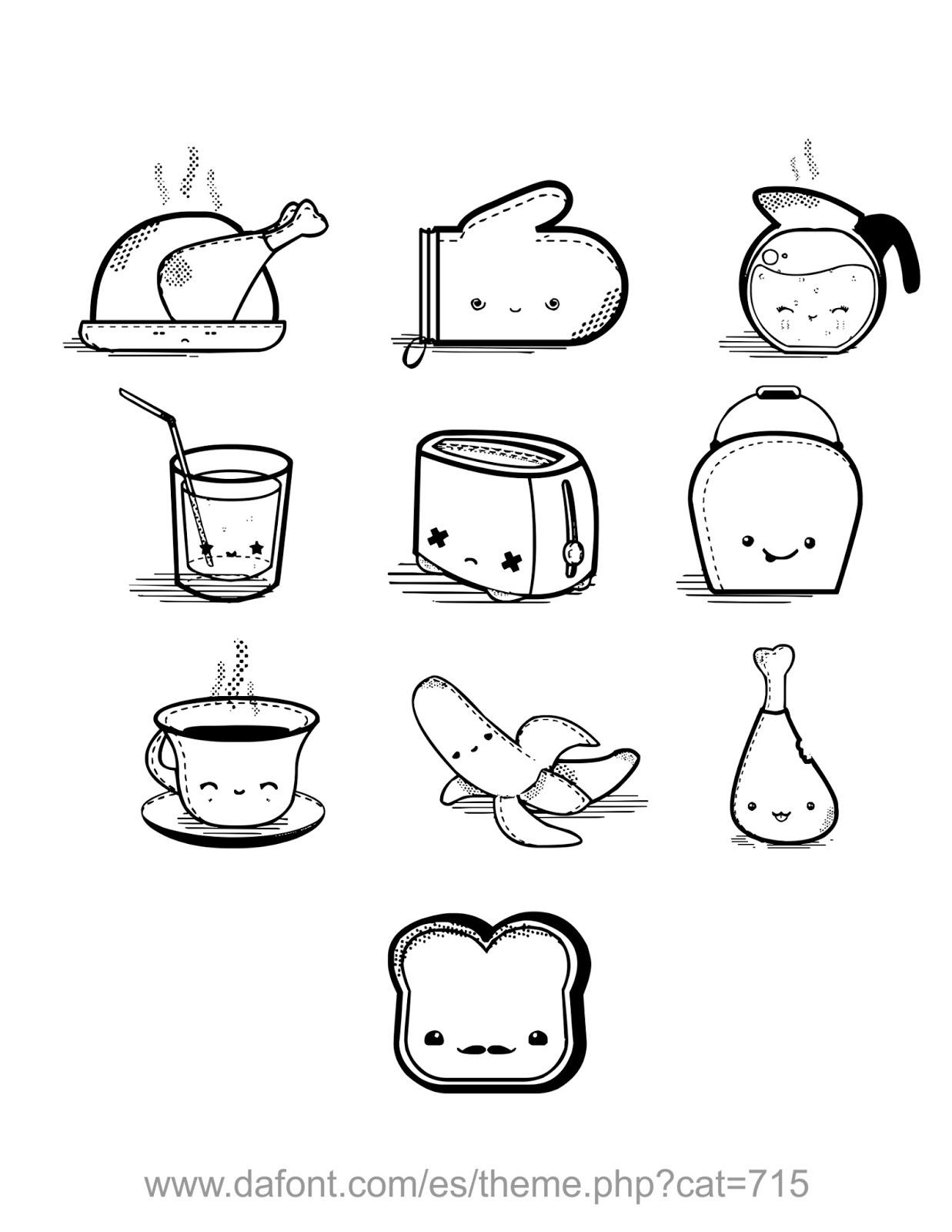 Alimentos Kawaii Buscar Con Google Corazn Kawaii Drawings